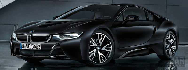 Обои автомобили BMW i8 Frozen Black Edition - 2017 - Car wallpapers