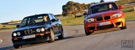 BMW 1-Series M Coupe E82 2011 and BMW M3 Sport Evolution E30