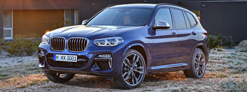 Обои автомобили BMW X3 M40i - 2017 - Car wallpapers